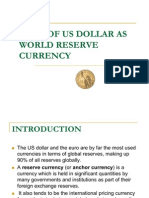 US DOLLAR AS WORLD RESERVE CURRENCY