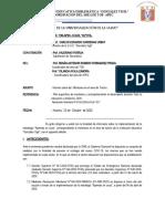 INFORME DEL  MONITOREO REALIZADO DEL   ÁREA DE TUTORÍA.