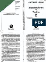Lacan, J. Conferencia en Ginebra sobre el síntoma. Intervenciones y textos 2