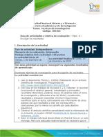 Guia de actividades y Rúbrica de evaluación - Paso 4 - Divulgar los resultados