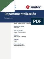 Tarea 6.1 Departamentalización