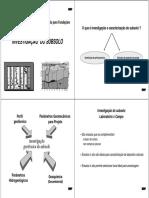 Investigação do subsolo e ensaios de campo
