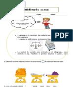 Guía midiendo las propiedades de la materia 4° basico ADAPTADA