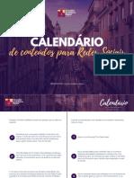 Calendário de Conteúdos Para Redes Sociais - Consultor Imobiliário Digital