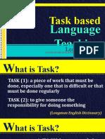 Leo M. Atienza-English 111 Second Language Acquisition-Task-Based Language Teaching and Reflective Teaching
