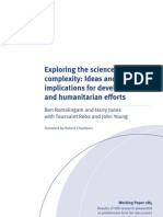 Ramalingam and Jones-Exploring the science of complexity ideas and implications for dev  and humanitarian efforts