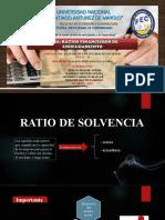 RATIOS F DE ENDEUDAMIENTO NATURALEZA PARAMETROS INDICADORES