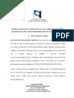 DEMANDA DE DIVORCIO POR CAUSAL DE ABANDONO O SEPARACION