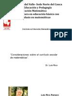 Curriculo en educación matemáticas (AMUZ)