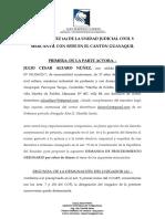 DEMANDA PROCEDIMIENTO ORDINARIO POR CHEQUE CADUCADO