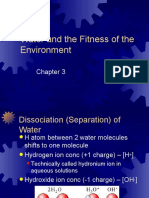Ch 3 Water and the Fitness of the Environment