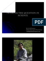 Framing the Question in Science