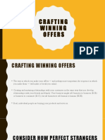 Digital Marketing Lecture -  Crafting Winning Offers