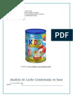 Presencia de adulterantes en leche en polvo alpura kids