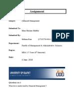 Assignment Financial Management