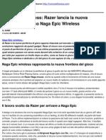 Naga Epic Wireless_ Razer Lancia La Nuova a Di Gioco Naga Epic Wireless - 2010-10-22