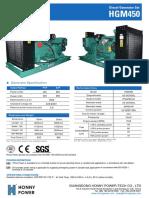 450 kva diesel generator set model HG 450