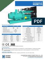 775 kva diesel generator set model hg775