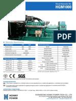1000 kva diesel generator set model hg1000
