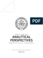 FY 2012 Federal Budget Analytical Perspectives