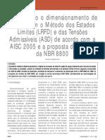comparativo AISC e NBR 8800