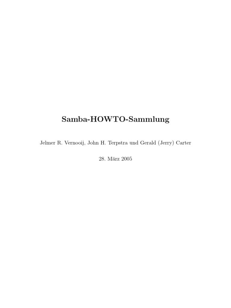 Samba HOWTO Sammlung