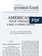 Americans Stop Thinking Like Communists
