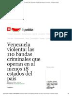 Venezuela violenta_ las 110 bandas criminales que operan en al menos 18 estados del país