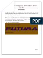 A Project  Report on Promotion of Futura Doors Product Pvt