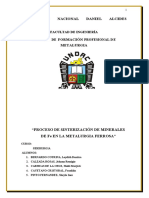 PROCESO DE SINTERIZACIÓN DE MINERALES DE Fe EN LA METALURGIA FERROSA