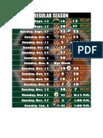 Bengals 2020 Schedule RECAP