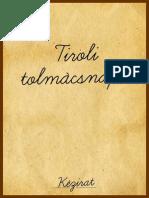 Tiroli tolmácsnapló