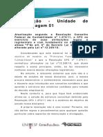 UA 01 - Legislação em vigor