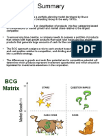 BCG Matrix summary