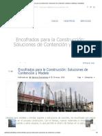 Encofrados para la Construcción_ Soluciones de Contención y Modelo _ Optimiza Contratistas