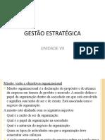 UNIDADE VII. GESTÃO ESTRATÉGICA.pptx