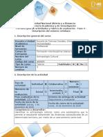 Guía de actividades y rúbrica de evaluación - Fase 4 - Descripción del entorno cotidiano