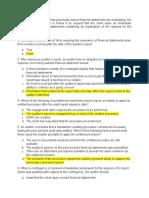 Post audit responsibilities Quiz