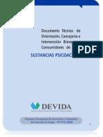 Documento Técnico de orientación consejeria e intervención breve. Versión Final de la Guía de Orientac