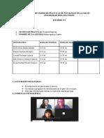 INFORME DIARIO DE PRÁCTICAS DE PSICOLOGÍA DE LA SALUD-UNIVERSIDAD PERUANA UNIÓN_