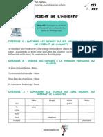 Fiche conjugaison CE1-CE2 - Présent de l_indicatif