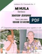 MI HUILA. Bambuco. Héctor Álvarez. Transc. piano Gerardo Betancourt.