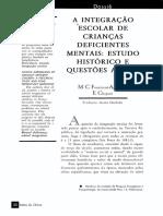 A   INTEGRAÇÃO   ESCOLAR  DE  CRIANÇAS DEFICIENTES MENTAIS   ESTUDO   HISTÓRICO  E  QUESTÕES   ATUAIS.pdf