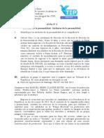 GUÍA ATRIBUTOS DE LA PERSONALIDAD civil I