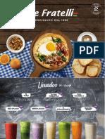 Menú Desayunos - Tre Fratelli 2019