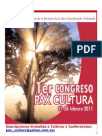 Talleres congreso PAX CULTURA