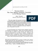 Truscott (1996) The case against grammar correction L2 writing