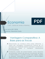 3. Vantagem Comparativa A base para as trocas - CTeSP GVM
