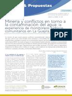 Minería y Conflictos en Torno a La Contaminación Del Agua La Experiencia de Monitoreos Hídricos Comunitarios en La Guajira, Colombia