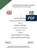 Training report 0